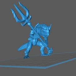 KuoToa_1.1.jpg Télécharger fichier STL gratuit Kuo-Toa / Deep One / Fish-man Warrior • Design à imprimer en 3D, np-dev