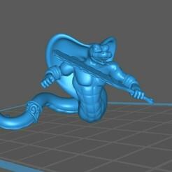 Yuan_Ti_02_a.jpg Télécharger fichier STL gratuit Yuan-Ti / Guerrier homme-serpent, Pose 2 • Design pour impression 3D, np-dev