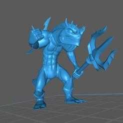Kuo-Toa_2.1.jpg Télécharger fichier STL gratuit Kuo-Toa / Deep One / Guerrier homme-poisson, pose 2 • Design imprimable en 3D, np-dev