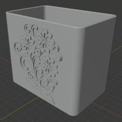 Télécharger objet 3D Becher Mit Blumenmotiv, stefanweber1907