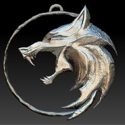 wolf amulet 01.jpg Télécharger fichier OBJ Amulette de sorcière - WOLF • Modèle pour imprimante 3D, alkuzed