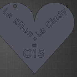 le riton.png Télécharger fichier STL gratuit Porte clé du Riton • Plan imprimable en 3D, mouchetalexandre37110