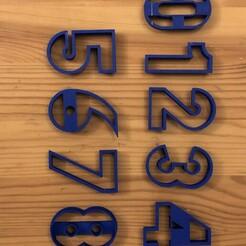 IMG_5223.JPG Download STL file numbers cookie cutter • 3D print design, Sametozkan