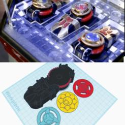 Descargar archivos STL Power Rangers Ninja Tormenta Ninja Viento Morfeo con Monedas de Poder, dontaiz93