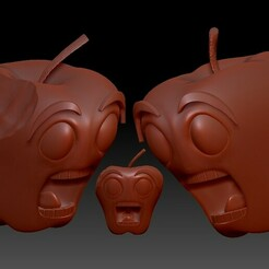manzanasc.jpg Download free STL file The fear of the apple • 3D print object, AFZD
