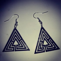 Download free 3D printing files labyrinth earring 3, AFZD