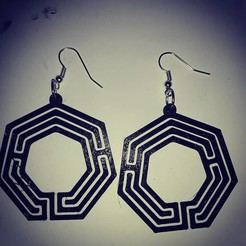 Download free 3D printing designs labyrinth earring 4, AFZD