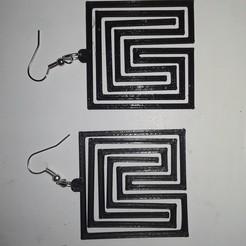 Télécharger objet 3D gratuit boucle d'oreille labyrinthe 2, AFZD