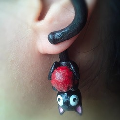 107693385_4654917217867524_3132992441685406767_o.jpg Download free 3MF file Cat earrings hanging from the tail • Template to 3D print, AFZD