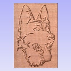 Download free 3D printer templates German Shepherd, cults00