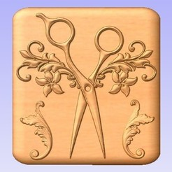 HD.jpg Download free STL file Hairdresser Scissors • 3D printing object, cults00