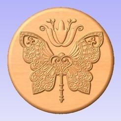 Imprimir en 3D gratis Llave mariposa, cults00