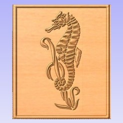 Imprimir en 3D gratis Caballito de mar, cults00