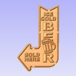 Download free 3D printing files Ice Cold Beer Sign, cults00