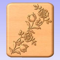 Descargar archivos STL gratis Diseño floral, cults00