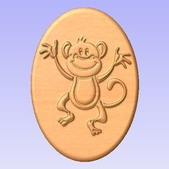 M.jpg Download free STL file Monkey • 3D printing design, cults00
