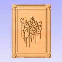 TO.jpg Download free STL file Wall Panel - Taking Over • 3D printing design, cults00