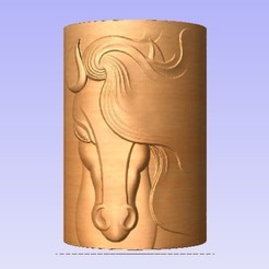 HH.jpg Download free STL file Horse Head - cylindar • 3D printable object, cults00