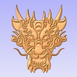 Descargar Modelos 3D para imprimir gratis Cara de Dragón, cults00