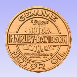 Descargar archivos STL gratis Aceite de motor Harley Davidson, cults00