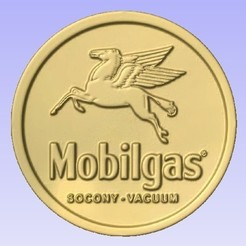 Mobilgas.jpg Download free STL file Mobil Gas • Template to 3D print, cults00