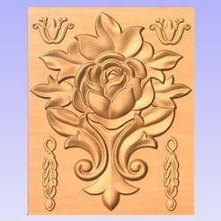 Descargar diseños 3D gratis Panel de pared de flores, cults00