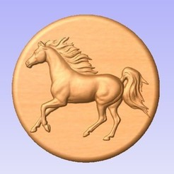 Horse.jpg Download free STL file Horse • 3D printable template, cults00