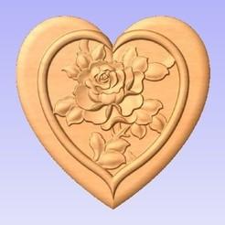 Descargar STL gratis Corazón de Rosa, cults00