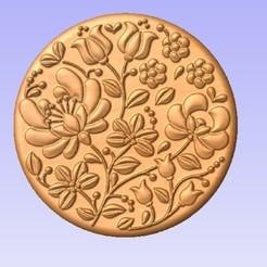 R.jpg Download free STL file Round Flower Panel • 3D printable model, cults00