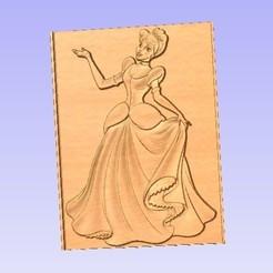 Descargar diseños 3D gratis Cenicienta, cults00