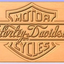 Descargar STL gratis Señal de Harley Davidson, cults00