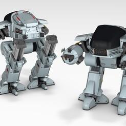 ed-209-01.jpg Download OBJ file ED-209 - Robocop • 3D print template, fmjunior3d