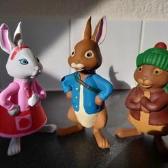 1.jpg Télécharger fichier STL Peter Rabbit avec Benjamin Bunny et Lily Bobtail • Modèle à imprimer en 3D, adamantiz