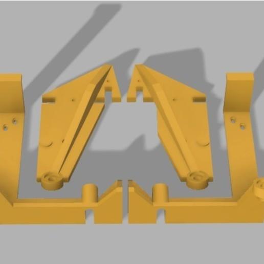 Télécharger STL gratuit Anet A6 entretoises stabilisatrices et pince de base, Chinde
