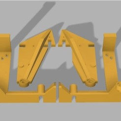 Download free 3D printing templates Anet A6 Stabilising Struts and Base Clamp , Chinde