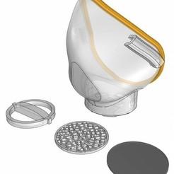 Mascara.jpg Download free STL file Mask Covid19 with pillars • 3D printing model, sbarrera