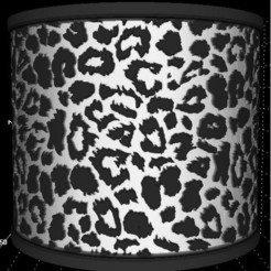 Leopard round Litho.jpg Download STL file Lithophane Leopard print Lamp shade 120mm dia • Template to 3D print, miranda77mr