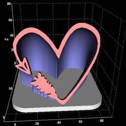 Descargar diseños 3D Corazón extruido, miranda77mr