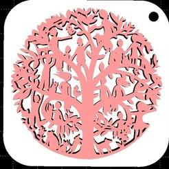 Descargar STL Llavero de árbol genealógico + plantilla de flores, miranda77mr