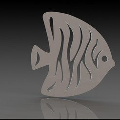 Descargar archivo 3D gratis La decoración de la pared del pez ángel, miranda77mr