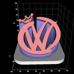 Télécharger fichier imprimante 3D gratuit VW avec affichage de la couronne, miranda77mr