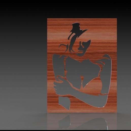Download free 3D printer designs Lady silhouette  / decorative, miranda77mr
