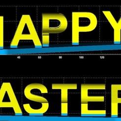 Download free 3D printer model Happy Easter dual word, miranda77mr