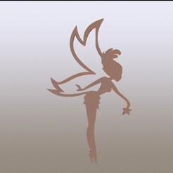 tinker render2.JPG Télécharger fichier STL Autocollant de la fée Clochette • Objet imprimable en 3D, miranda77mr