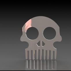 Download free 3D printing templates Skull comb , miranda77mr