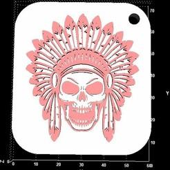 Télécharger fichier imprimante 3D gratuit Porte-clés crâne indien, miranda77mr