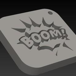 Boom.jpg Télécharger fichier STL Boom ! (porte-clés pop art) • Plan imprimable en 3D, miranda77mr