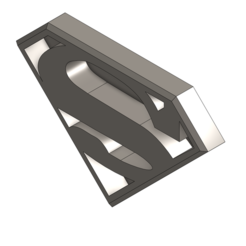 Download 3D printer model Superman Logo, syedsammuzammil