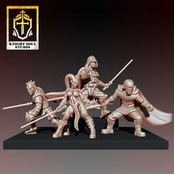 Dark Knights.jpg Download STL file Dark Knights Pack • 3D printer model, KnightSoul_Studio
