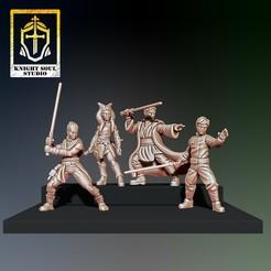 Knights.jpg Télécharger fichier STL Chevaliers de bâton • Design à imprimer en 3D, KnightSoul_Studio